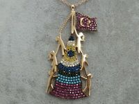 Turkish Handmade Jewelry 925 Sterling Silver Multi Stone Women Necklace
