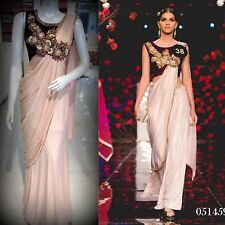 ACTUAL PICS Indian Bollywood Ready to wear Pre Pleated Saree Sari - all SIZES