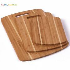 3 Set Piece Cutting Board Bamboo Totally Kitchen Wood Chopping Boards Large NEW