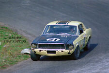 Ford Shelby GT 350 Mustang & Ron Bucknum –1967 Trans-Am race Kent, Wash– photo 1