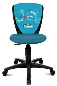 Kinderdrehstuhl Büro Topstar Scout Nano S'cool schw/h-blau happy dolphins B-Ware