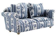 1:12 silla sofá de casa de muñecas conjunto con Taburete DF890
