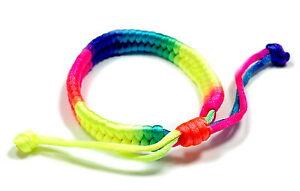 10 Neon-Regenbogenfarbene Armbänder Einzeln/Freundschaft/ CSD/ Frühjahr/ Kinder