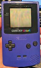 Nintendo Game Boy Color Grape Handheld System *TESTED*