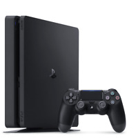 PlayStation PS4 1TB Slim Core Console Jet Black (2018 Refresh)
