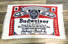Vintage Budweiser Bottle Label Beach Towel Anheuser Busch Beer Collectible