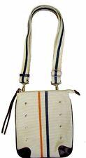 Tokyo Bay White Canvas Lines Crossbody Bag (SALE!)