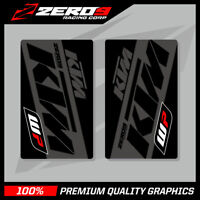 KTM SE1 UPPER FORK DECALS BLACK GREY MOTOCROSS GRAPHICS MX GRAPHICS