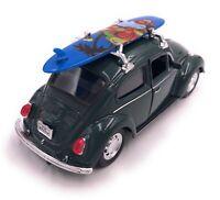 VW Käfer mit Surfbrett Modellauto Auto LIZENZPRODUKT 1:34-1:39 versch. Farben