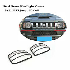 1 Pair Steel Front Headlight Cover Exterior Protector Fit for Suzuki Jimny 07-15