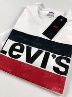 Levi's® Crew Neck Tee Men's White Sportswear Logo Regular Fit 39636-0011