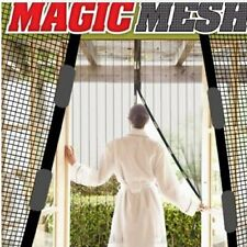 Magic Mesh Instant Net Magnetic Hands Free Screen Anti Mosquito Bug Door Curtain