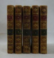 Oeuvres de Jean RACINE 5 tomes COMPLET Edition Stéréotype d'Herhan RELIURES 1801