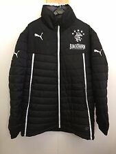 Mens Puma Rangers Full Zip Bench Coach Padded Jacket - Medium - Black - BNWT