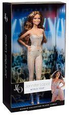 BARBIE BAMBOLA CON VESTITI-Jennifer Lopez World Tour Black Label y3357 NUOVO CON SCATOLA