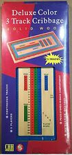 Deluxe 3 Track Cribbage w/ Hidden Peg Storage and Free Shipping