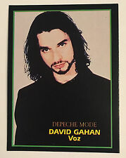David Gahan Depeche Mode 1994 Argentina International Rock Cards #189 Rare Card