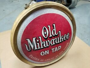 vintage old milwaukee beer sign advertising collectible antique lighted sign