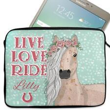 """Personalised Tablet Cover LOVE HORSES Neoprene Sleeve Case Magic 7"""" - 10"""" KS150"""