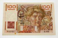 1952 France 100 Francs Very Fine Condition Pick #128e
