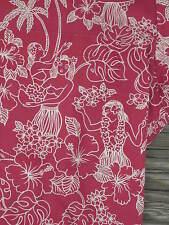 ROYAL CREATION HAWAII HULA DANCER GIRLS Novelty Print SHIRT Men's Large Vintage