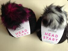 2 BALLS OF SIRDAR HEAD START HAT KNITTING KIT YARN, PATTERN & POMPOM
