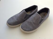 Peacocks Boys' Canvas Slip on Shoes - Light blue - Size 5 - USED