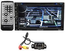 """Rockville RGP7 7"""" Car Navigation/DVD/iPhone/Pandora/Bluetooth Player + Camera"""