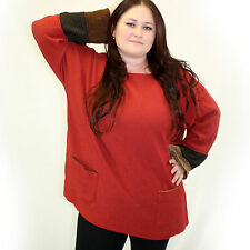 NEW Margaret Winters Crunchy Cotton Double Cuff Shirt Blouse in Bittersweet 2X
