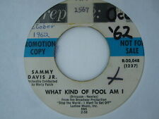 45 RPM vinyl record CLEANED & PLAYS NM- SAMMY DAVIS What Kind of Fool/Mountain