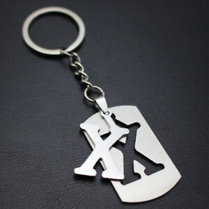 Letter Stainless Steel Keyring Keychain Key Chain Ring Key Fob Pendant Fashion