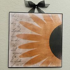 """Christian Sunflower """"This is the day the Lord has made"""" Plaque Wall Decor"""