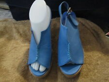 Korean style Casual Blue Wedge Shoes size 6.5 Brand New