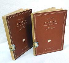 Edgar Poe,POESIE,Fussi 1947 2 voll.[versione francese di S.Mallarmé,Poesia