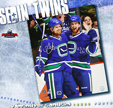 DANIEL & HENRIK SEDIN DUAL-SIGNED Vancouver Canucks 16X20 Photo