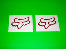 FOX RACING MOTOCROSS ATV UTV QUAD BMX DIECUT RED FOX HEAD STICKERS DECALS