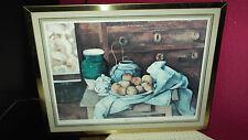 Kunstdruck Paul Cezanne Stilleben golden gerahmt 35 x 43 cm