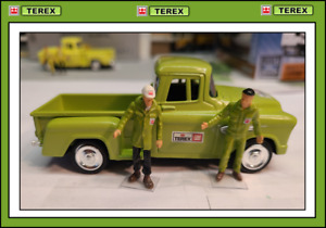 1/43 1955 Chevrolet Step-side Pick Up Truck + 2 Custom Figs - in TEREX Colors !!