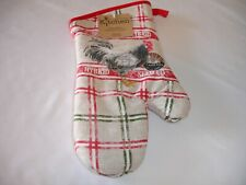 New! Country Old Fashioned Rooster Oven Mitt Kitchen Cotton Mitt Kay Dee Designs