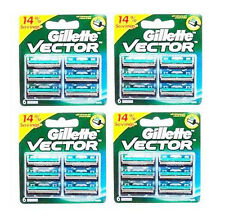 24 Blades Gillette Vector Cartridges Blade Fits Contour Atra Plus Refil Fre Ship