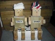sit on fence ornament, Jack+Danny, garden/patio pair, two ornaments unfinished