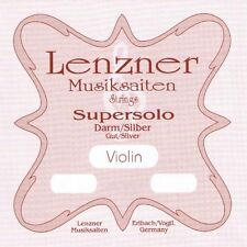 LENZNER SUPERSOLO 1020D 4/4 Violin Geige DARM Saiten SATZ Violin GUT Strings SET