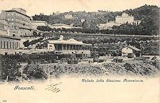 4848) FRASCATI (ROMA) VEDUTA DELLA STAZIONE FERROVIARIA. VIAGGIATA NEL 1900.