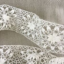More details for antique lace flounce trim border  hand made fine delicate 1.1m 1.2 yards
