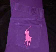 Ralph Lauren BIG PONY Jeans NEW Fragrance Collection #4 Purple $245 Size 27 #19