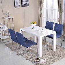 4 Seate Rectangular Dining Table High Gloss White Room Kitchen Furniture Modern
