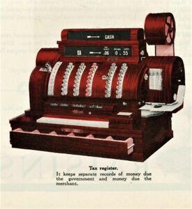 19121 Vtg Orig NATIONAL CASH REGISTER Ad Big COLOR Centerfold. 8 Models Displayd