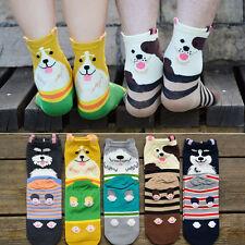 1 Paire Chaussettes Cheville Socquettes Chein Femme Fille Enfant Socks Hiver