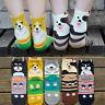 Fashion Womens 3D Cartoon Animals Ankle Socks Dog Simple Cotton Floor Socks #