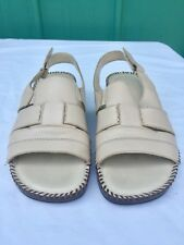 NATURALIZER Women's Rochelle Beige Leather Sandals - Size 7.5 M Fast Shipping
